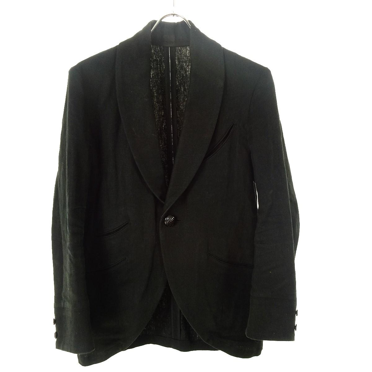 【中古】BLACK SIGN リネンジャケット ブラック サイズ:36 【200420】(ブラックサイン)