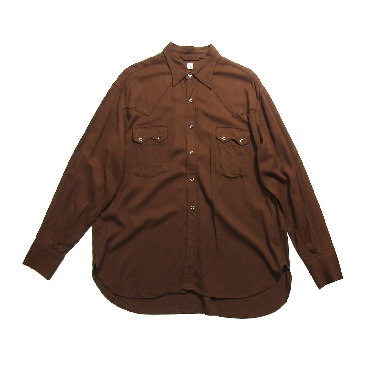 【中古】KAPTAIN SUNSHINE COWBOY SHIRTS カーボーイシャツ ブラウン サイズ:38 【200420】(キャプテンサンシャイン)