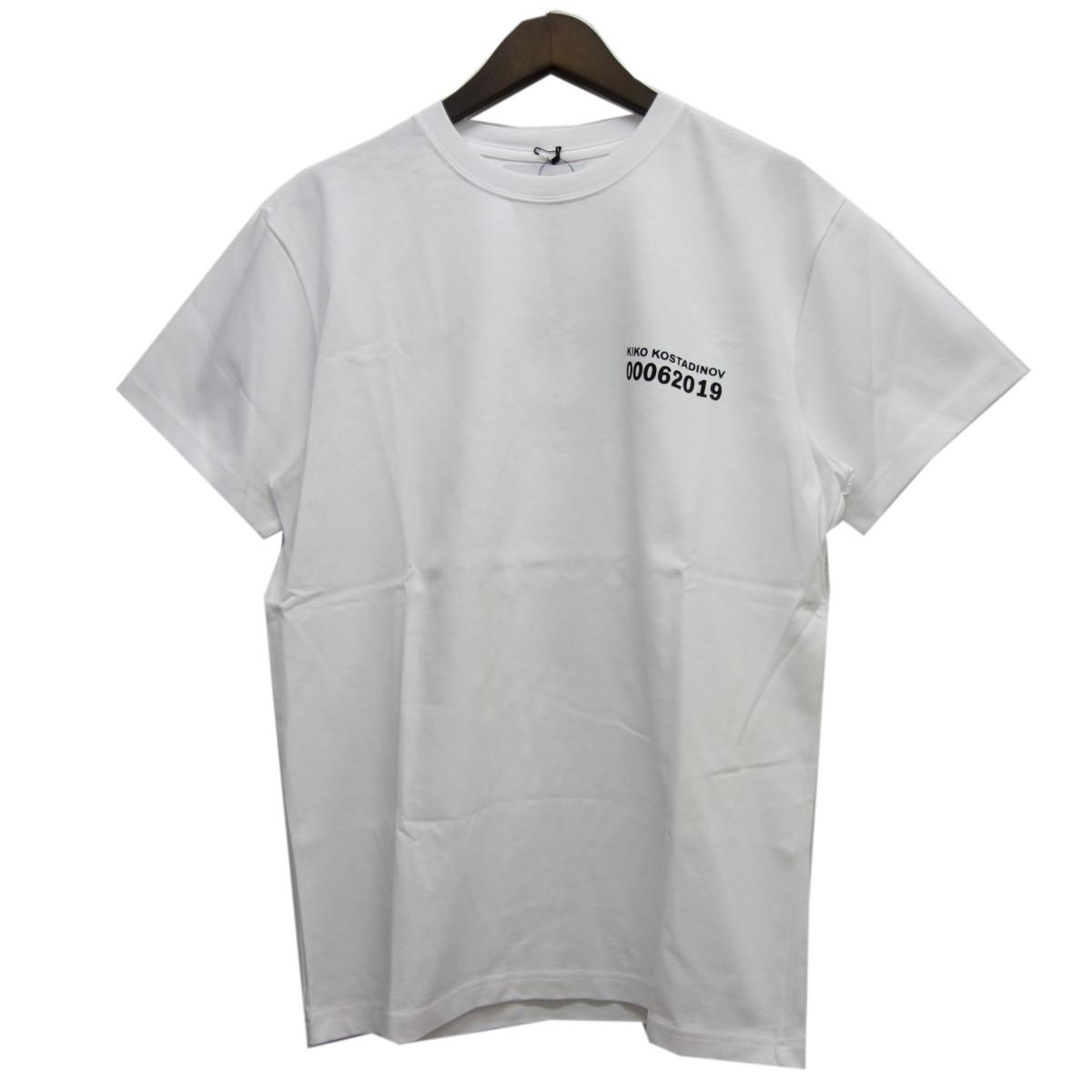 【中古】kiko kostadinov 19SS ロゴTシャツ ホワイト サイズ:M 【200420】(キコ コスタディノフ)