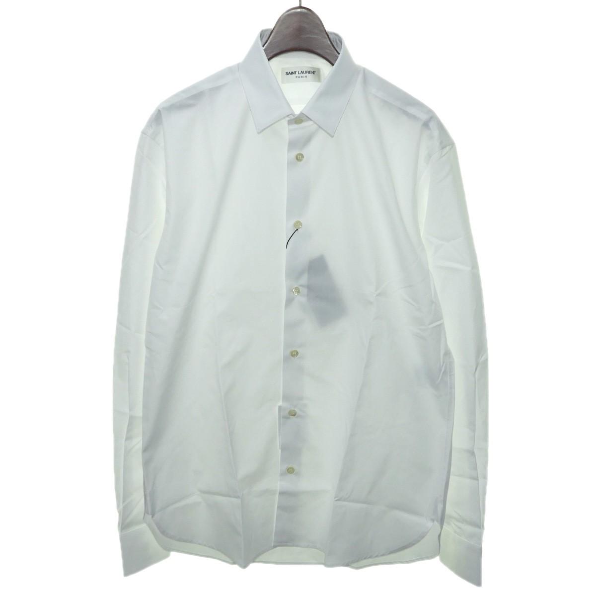 【中古】SAINT LAURENT PARIS プレーンシャツ ホワイト サイズ:38/15 【210420】(サンローランパリ)