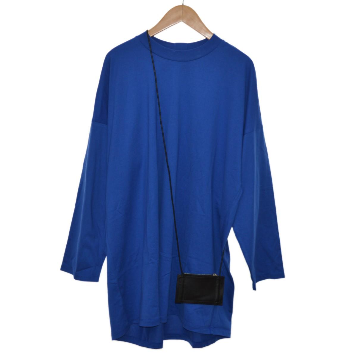 【中古】my beautiful landlet Standard L/S T Shirts With Shoulder Pouch ブルー サイズ:0 【210420】(マイ ビューティフル ランドレット)