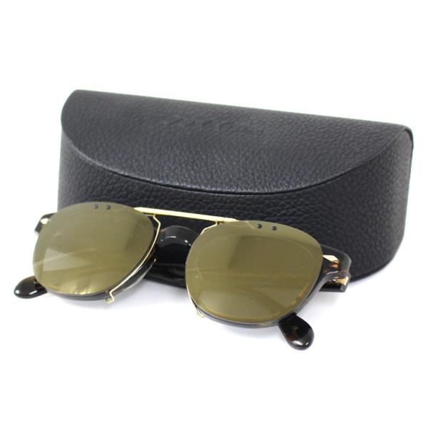 【中古】OLIVER PEOPLES × MAISON KITSUNE 2WAY サングラス 眼鏡フレーム 48□22-140 取り外し可能 ブラウン他 サイズ:- 【200420】(オリバーピープルズ メゾンキツネ)