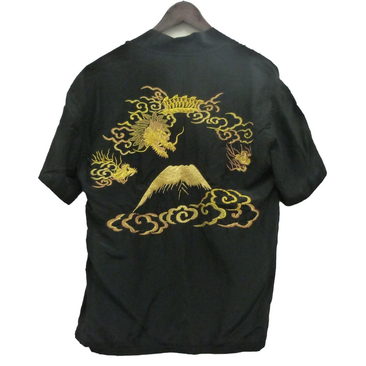 【中古】SASQUATCHfabrix. 16SS「YOKOSUKA HALF SLEEVE SHIRTS」羽織ヨコスカシャツ ブラック サイズ:S 【200420】(サスクワァッチファブリックス.)