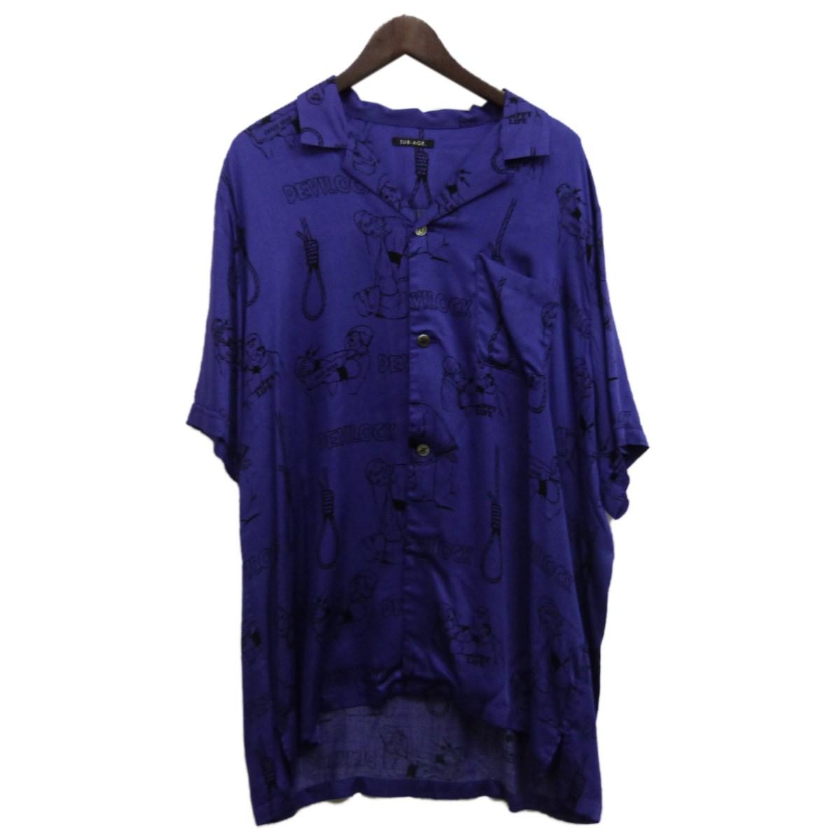 【中古】SUB-AGE.×DEVILOCK アロハシャツ パープル サイズ:2 【200420】(サベージ×デビロック)