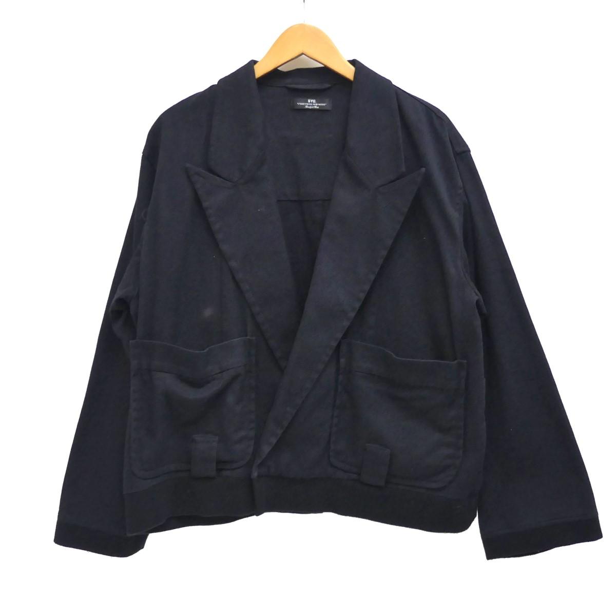 【中古】SYU. 裾リブコットンジャケット ブラック サイズ:2 【210420】(シュウ)