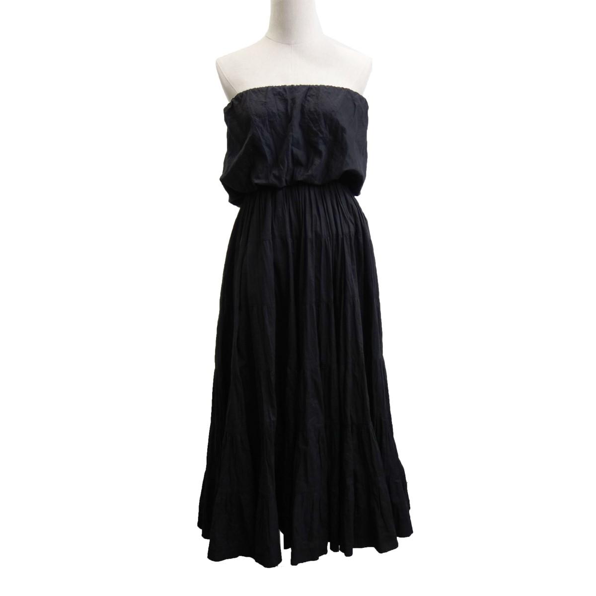 【中古】MARIHA 「草原の夢のドレス」 プリーツノースリーブワンピース ブラック サイズ:- 【210420】(マリハ)