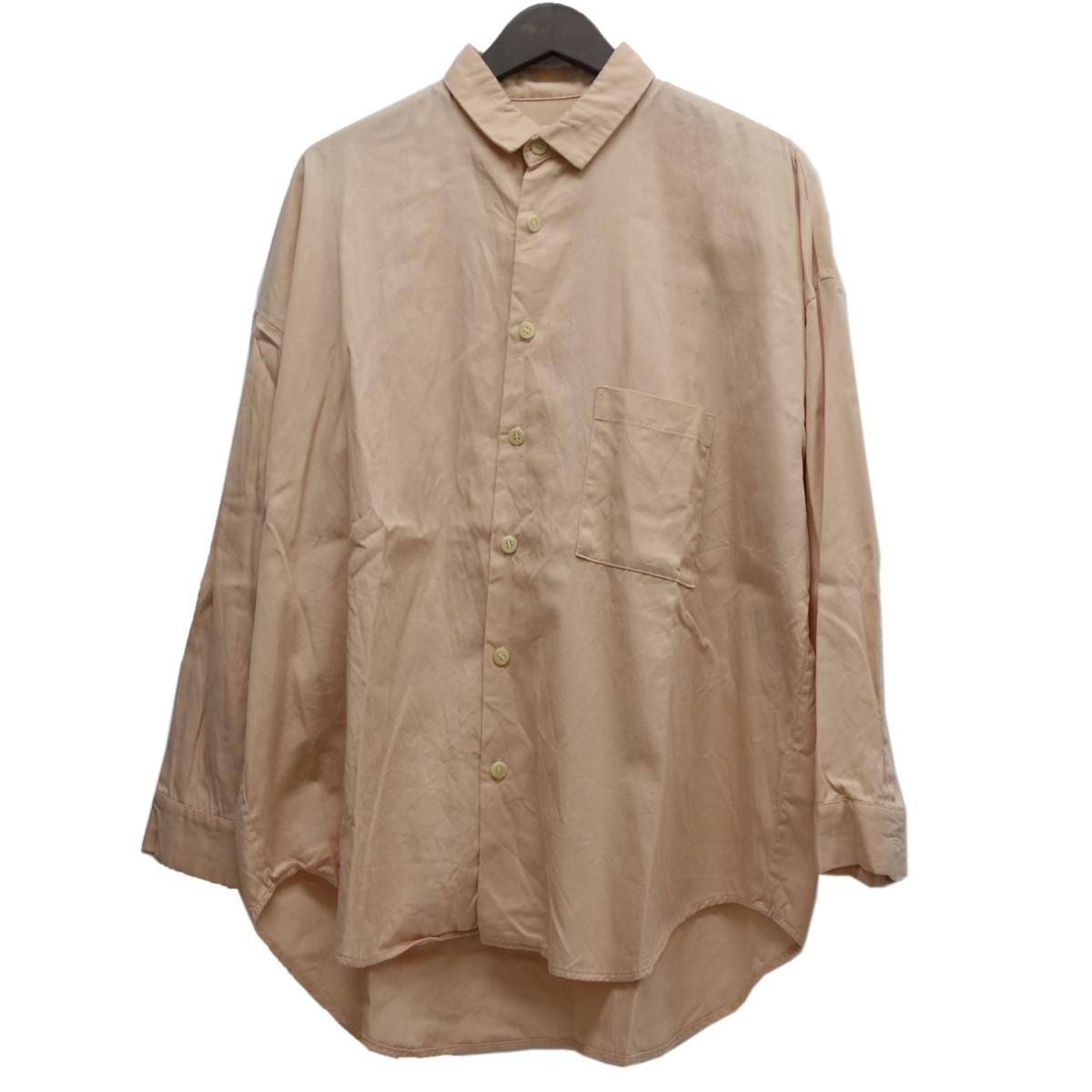 【中古】whowhat オーバーサイズシャツ サーモンピンク サイズ:S 【210420】(フーワット)