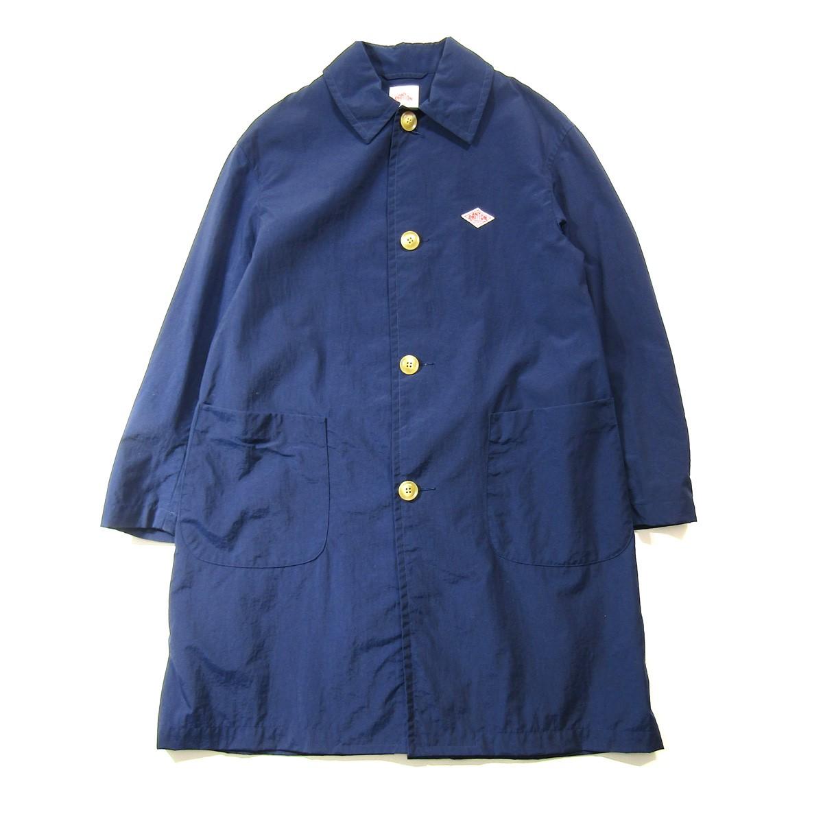【中古】DANTON ナイロンステンカラーコート ネイビー サイズ:34 【210420】(ダントン)