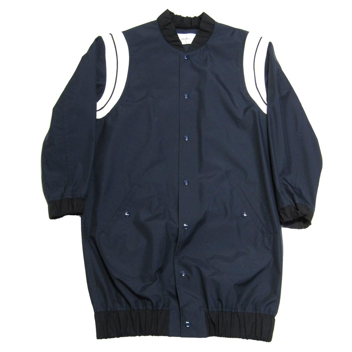 【中古】JULIEN DAVID ナイロンロングジャケット ネイビー サイズ:S 【210420】(ジュリアン デイビッド)