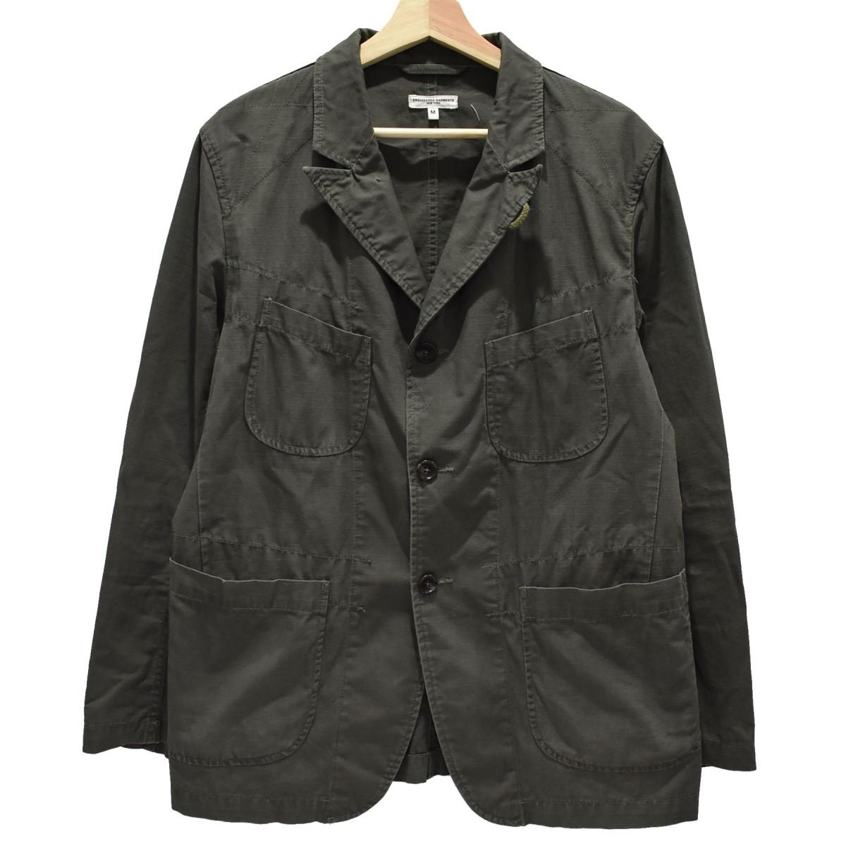 【中古】Engineered Garments リップストップ ベッドフォードジャケット オリーブ サイズ:M 【220420】(エンジニアードガーメンツ)