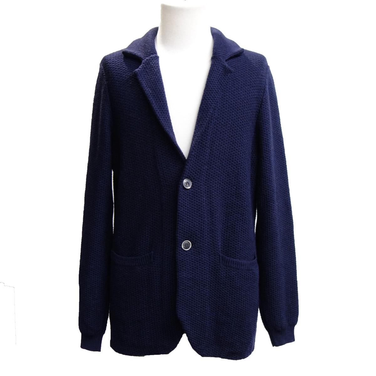 【中古】Drumohr ニットジャケット ネイビー サイズ:46 【210420】(ドルモア)