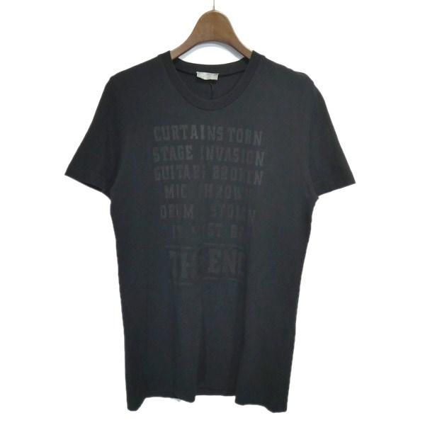 【中古】Dior Homme 「THE END」2005AW クルーネックプリントTシャツ ブラック サイズ:XS 【220420】(ディオールオム)