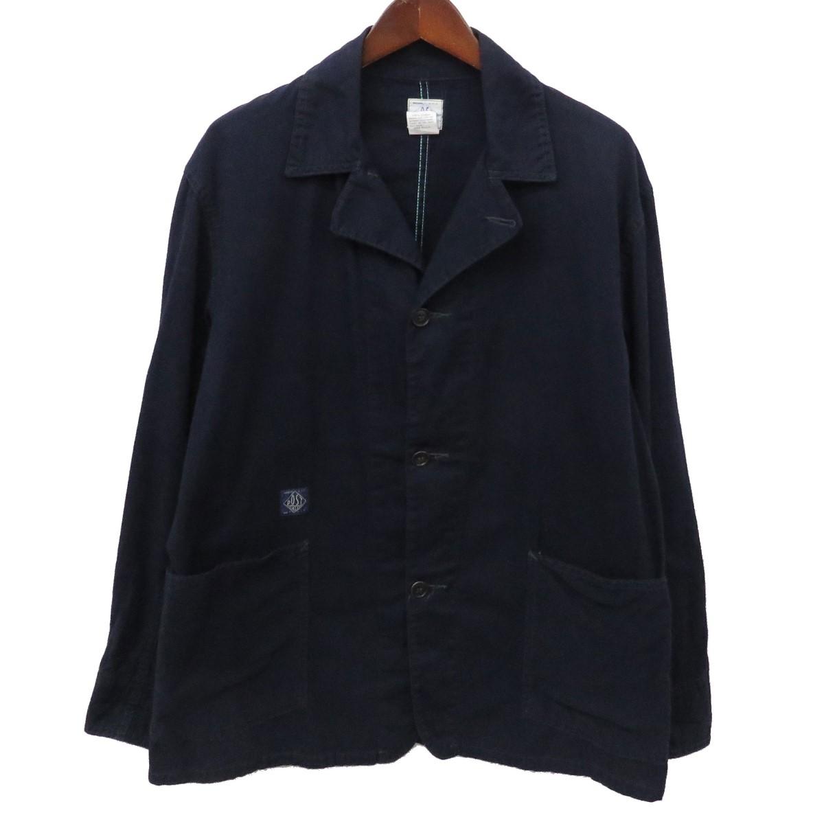 【中古】POST O'ALLS カバーオール ワークジャケット ネイビー サイズ:M 【220420】(ポストオーバーオールズ)