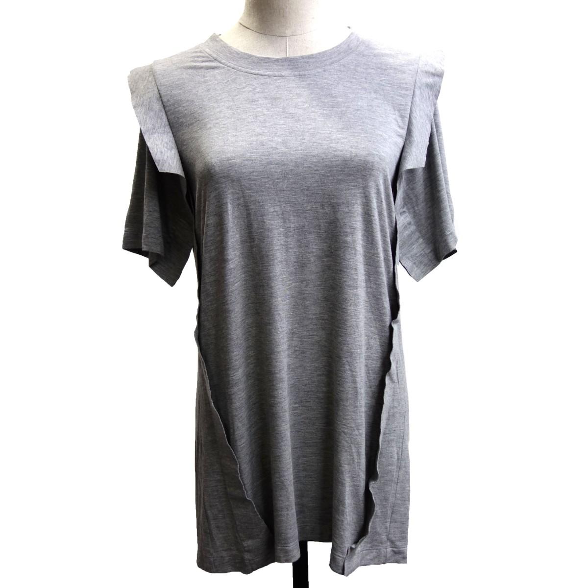 【中古】Martin Margiela1 14AW ドッキングデザイン半袖Tシャツ グレー サイズ:S 【220420】(マルタンマルジェラ1)