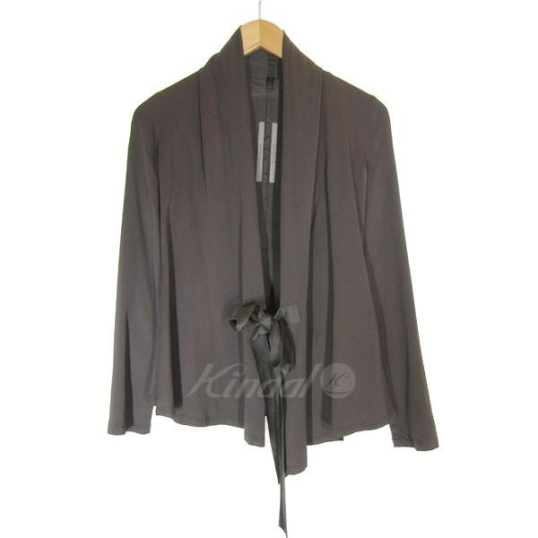 【中古】Rick Owens tie fastening jacket 変形デザインジャケット チャコールグレー サイズ:US4 【220420】(リックオウエンス)
