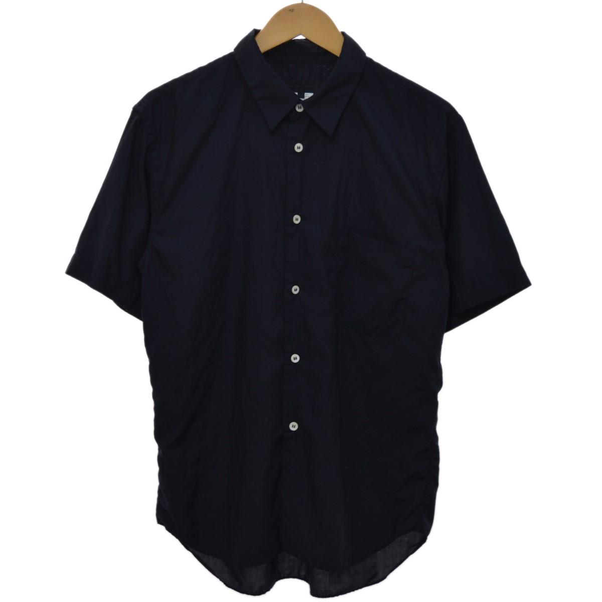 【中古】COMME des GARCONS HOMME DEUX スタンダードハーフシャツ ネイビー サイズ:S 【230420】(コムデギャルソンオムドゥ)