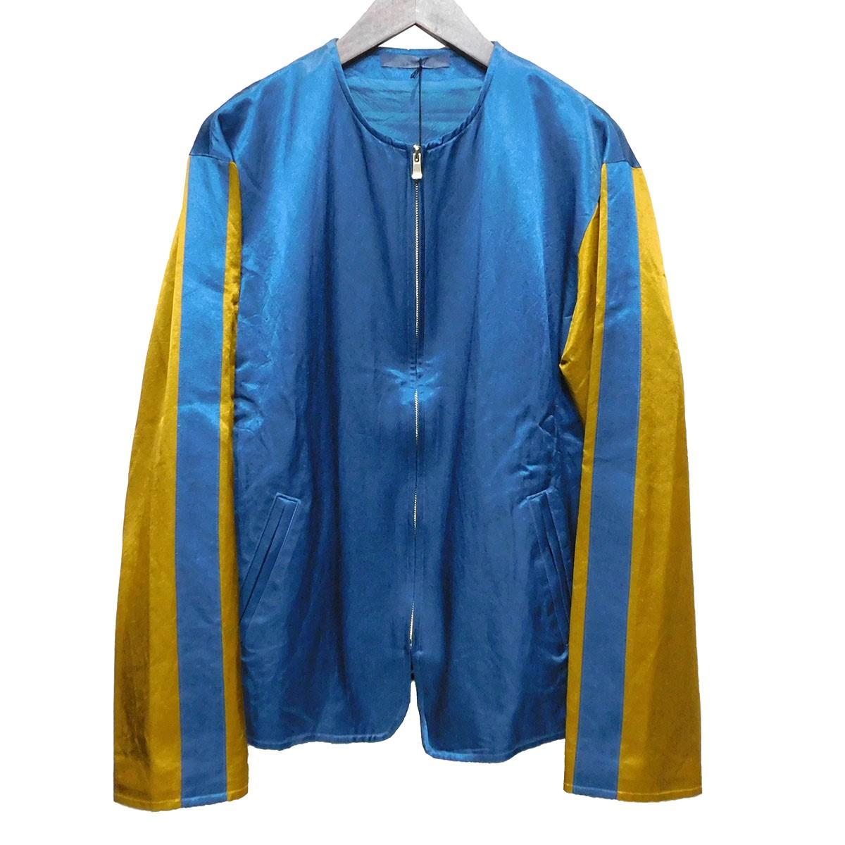 【中古】semoh ノーカラージャケット ネイビー×マスタード サイズ:2 【230420】(セモー)