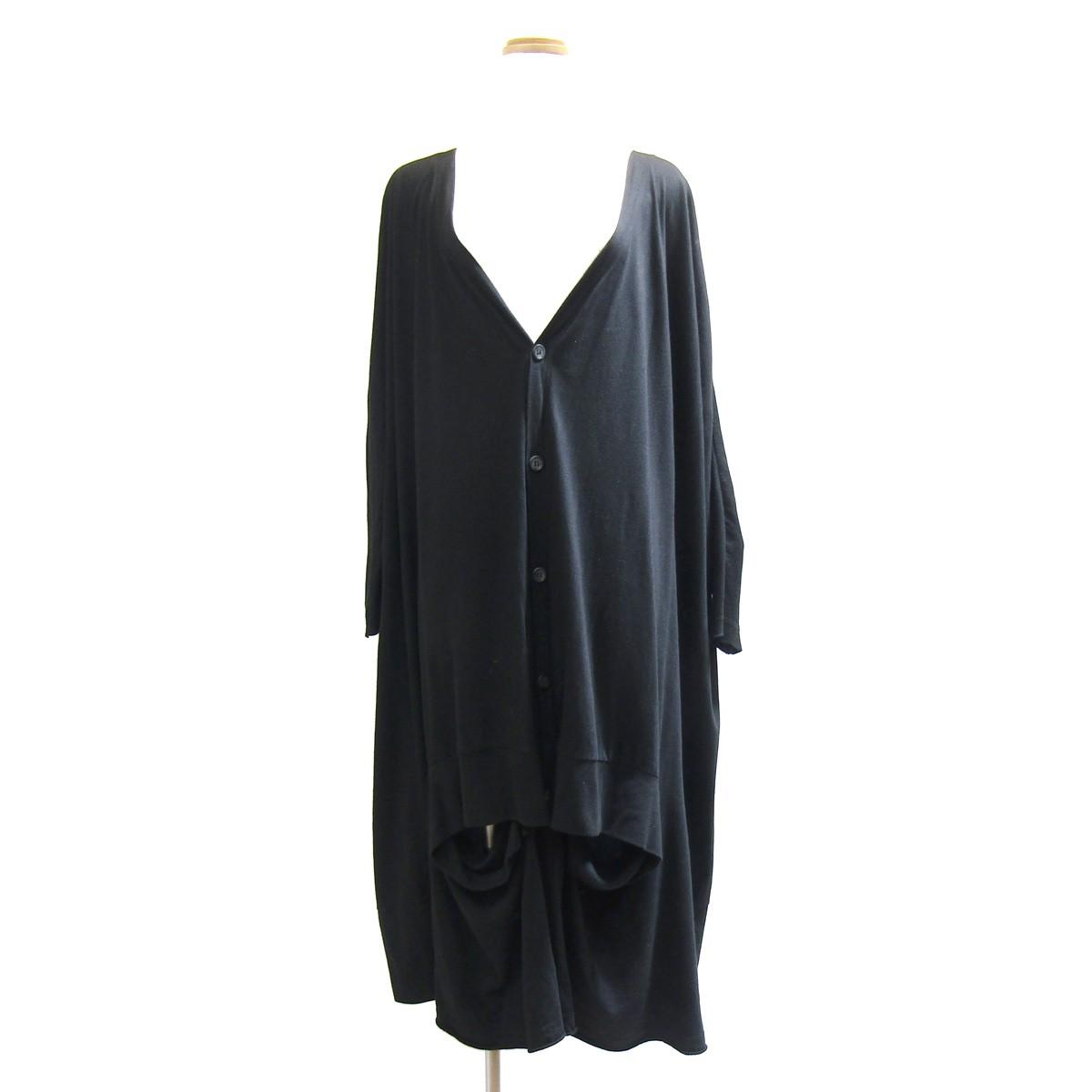 【中古】RISMAT by Y's ワイドロングカーディガン ブラック サイズ:2 【230420】(リスマット バイ ワイズ)
