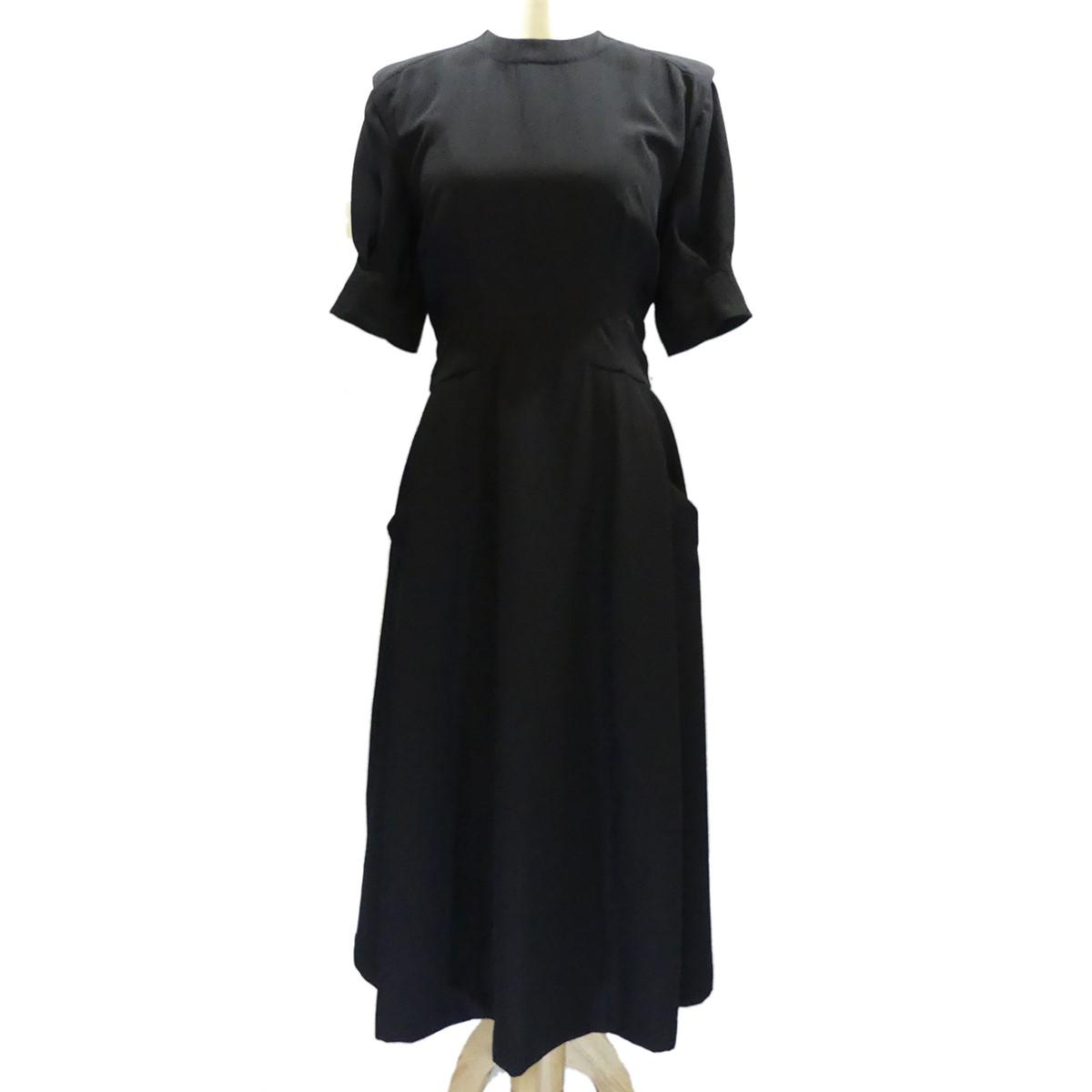 【中古】TOGA 2018SS バッグデザインドレス ロングワンピース ブラック サイズ:36 【230420】(トーガ)