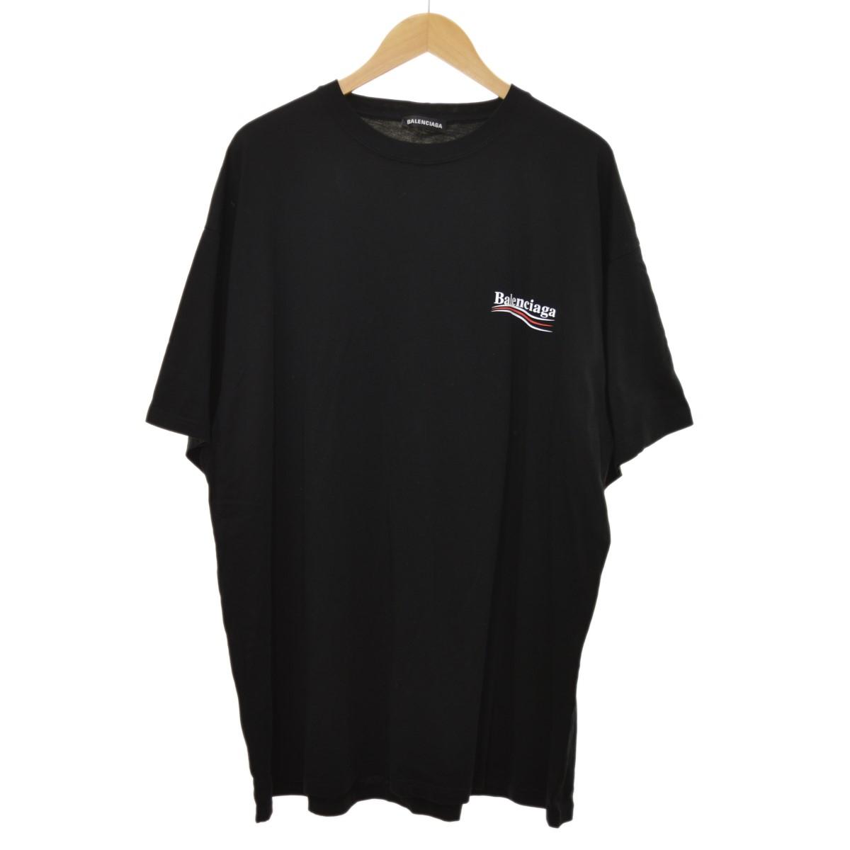 【中古】BALENCIAGA 19SS キャンペーンロゴ Tシャツ ブラック サイズ:XXL 【240420】(バレンシアガ)