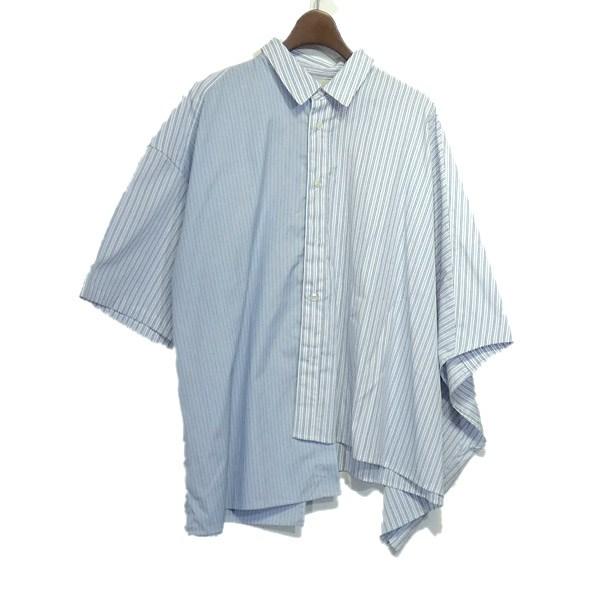 【中古】JieDa 2019SS「ASYMMETRY S/S SHIRT」アシンメトリーシャツ ブルー サイズ:1 【240420】(ジエダ)