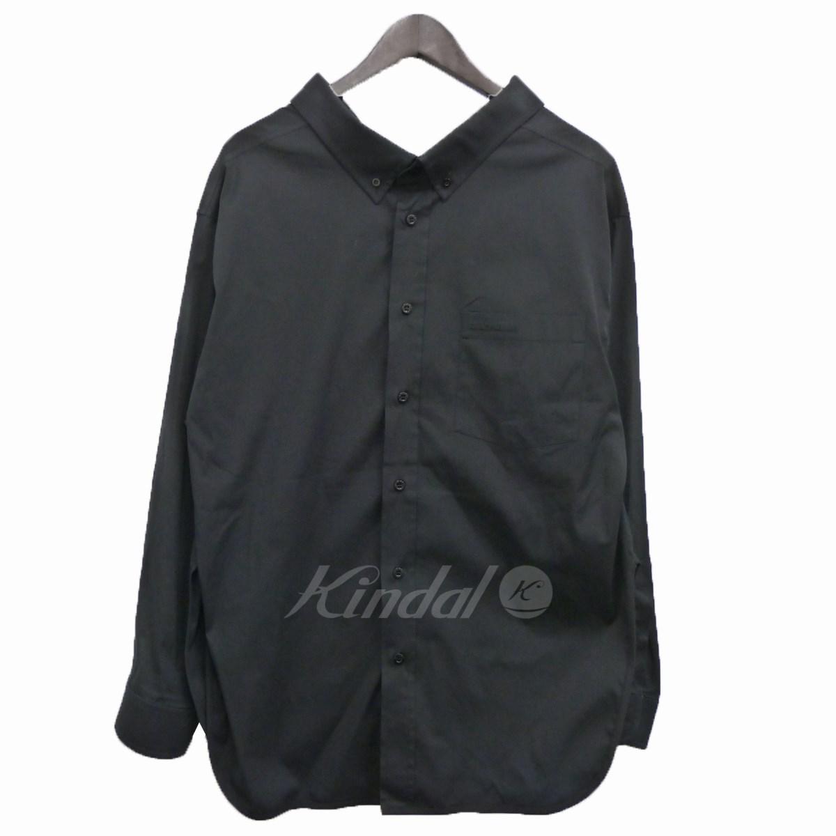 【中古】BALENCIAGA 18SS スウィングカラーシャツ ブラック サイズ:34 【240420】(バレンシアガ)
