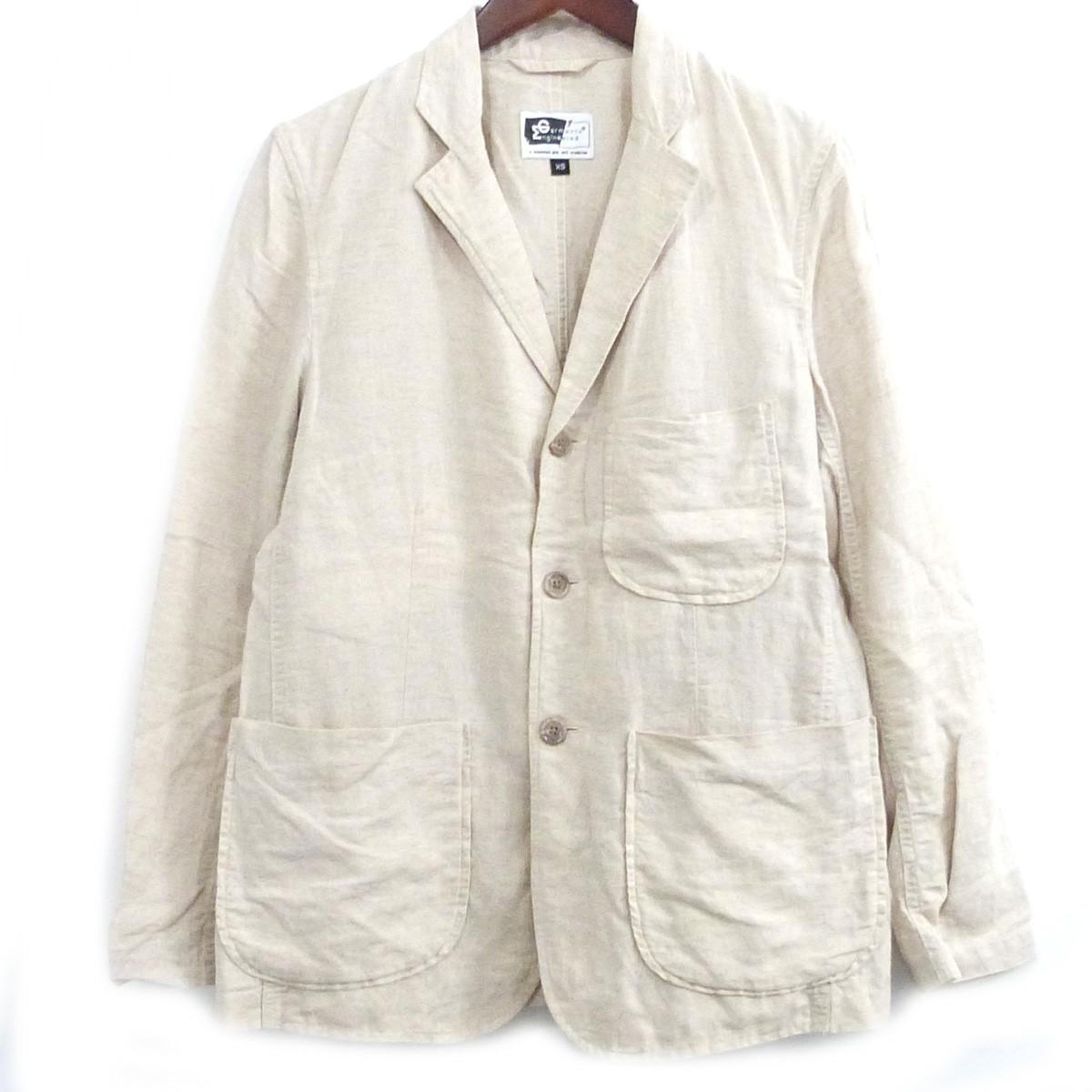 【中古】Engineered Garments リネン混ノッチドラペル3Bジャケット ベージュ サイズ:XS 【250420】(エンジニアードガーメンツ)