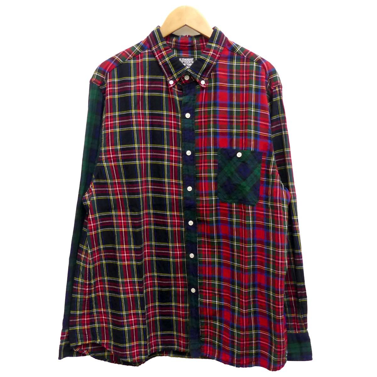 【中古】8.15 AUGUST FIFTEENTH DARTMOUTH B.D SHIRT チェック柄ボタンダウンシャツ マルチカラー サイズ:XL 【250420】(オーガストフィフティーンス)