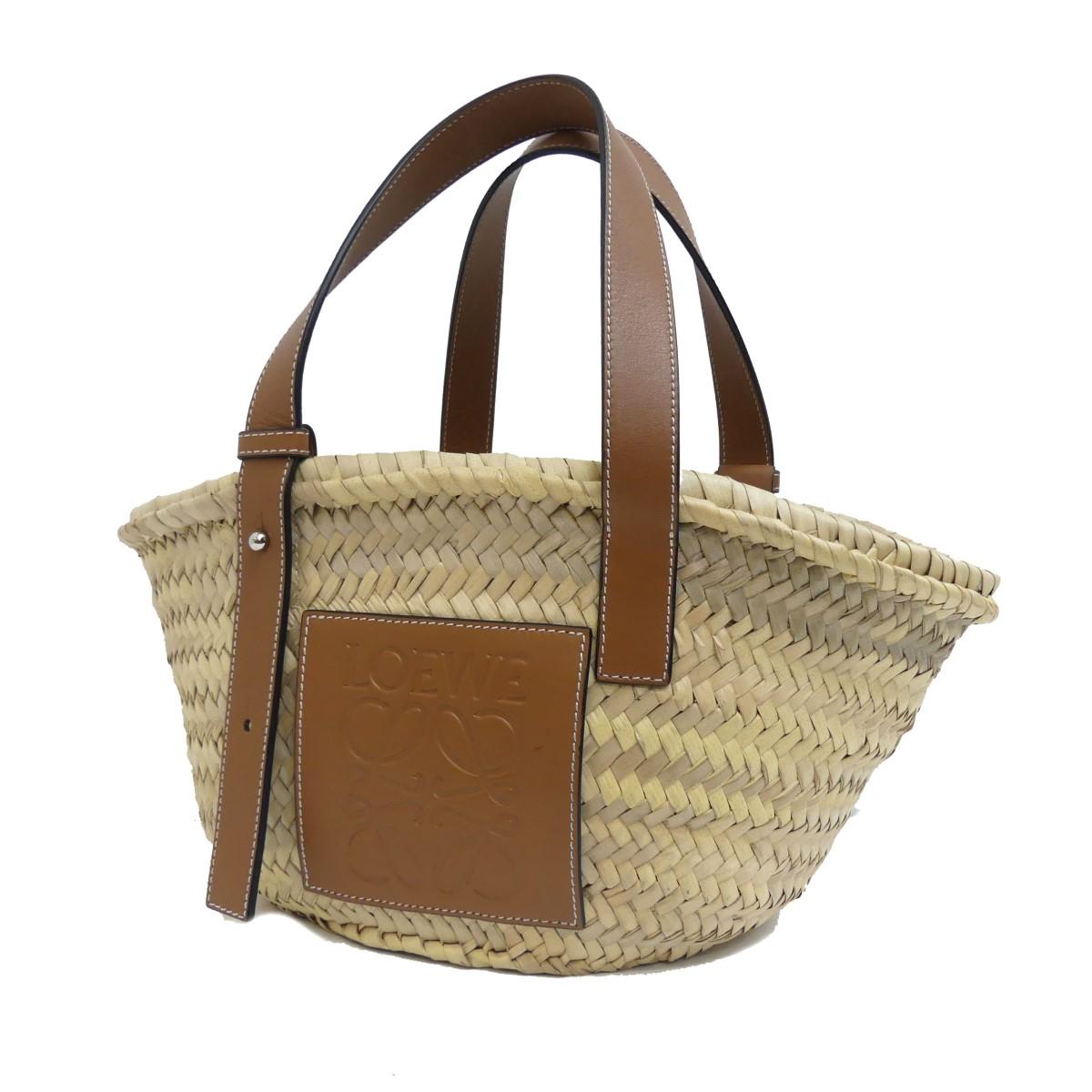 【中古】LOEWE BASKET BAG カゴバッグ ナチュラル 【260420】(ロエベ)