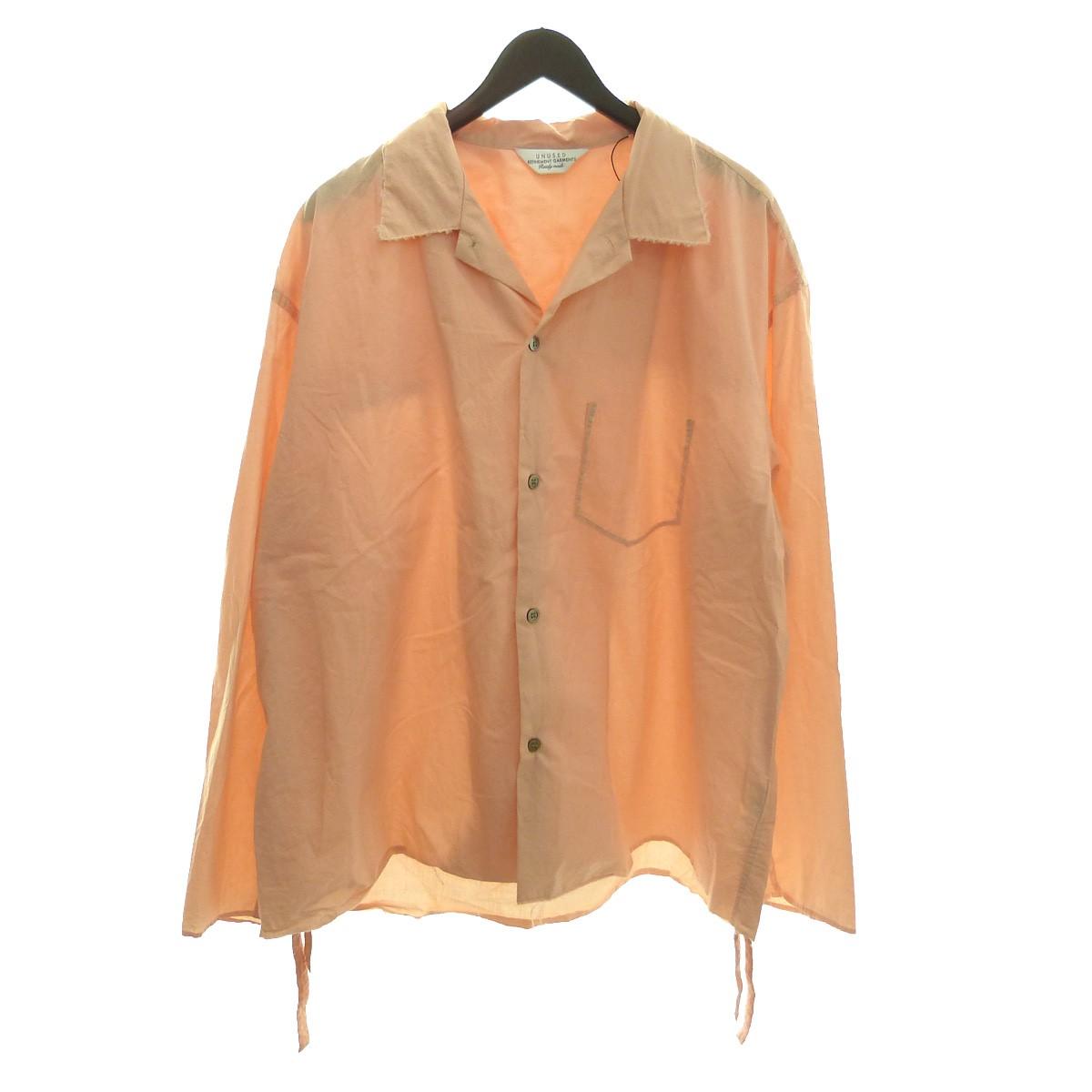 【中古】UNUSED 18SS 「Cut off shirt」 カットオフシャツジャケット ピンク サイズ:4 【260420】(アンユーズド)