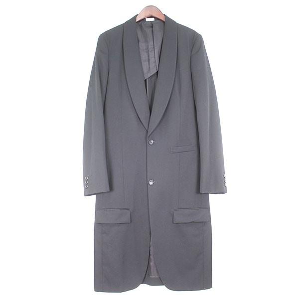 【中古】COMME des GARCONS HOMME PLUS 19AW ショールカラーロングジャケット ブラック サイズ:S 【250420】(コムデギャルソンオムプリュス)