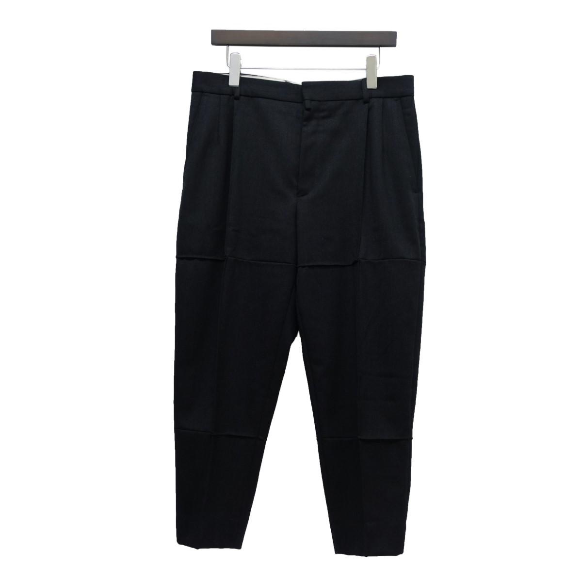 【中古】BOTTER 19SS ウール切替パンツ ブラック サイズ:46 【260420】(ボッター)