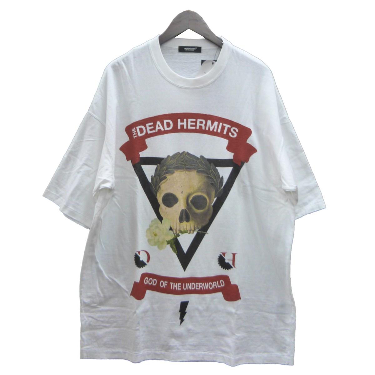 【中古】UNDER COVER UCW4893-3 「BIG TEE THE DEAD HERMITS」Tシャツ ホワイト サイズ:2 【260420】(アンダーカバー)