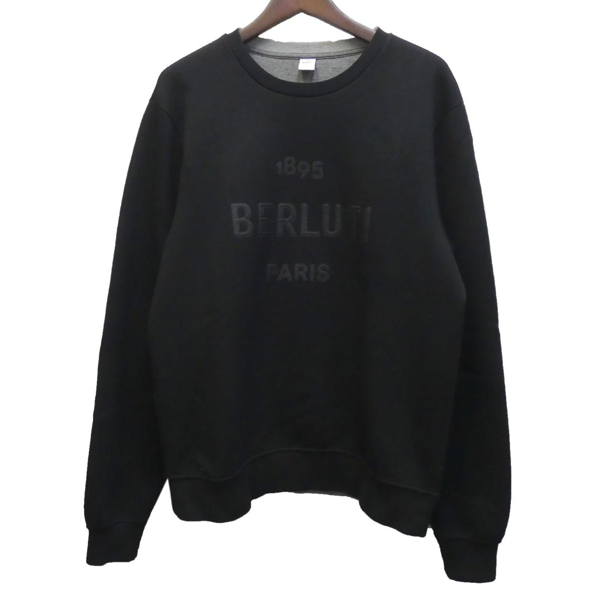 【中古】Berluti ロゴ刺繍スウェット ブラック サイズ:M 【260420】(ベルルッティ)