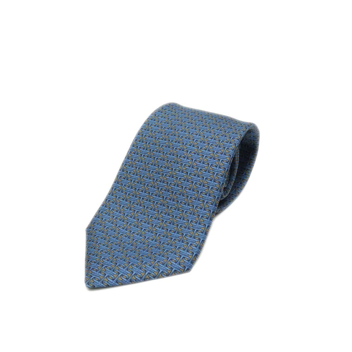 【中古】HERMES シルクネクタイ CRAVATE TWILL 9 5557 MA ブルー サイズ:- 【270420】(エルメス)