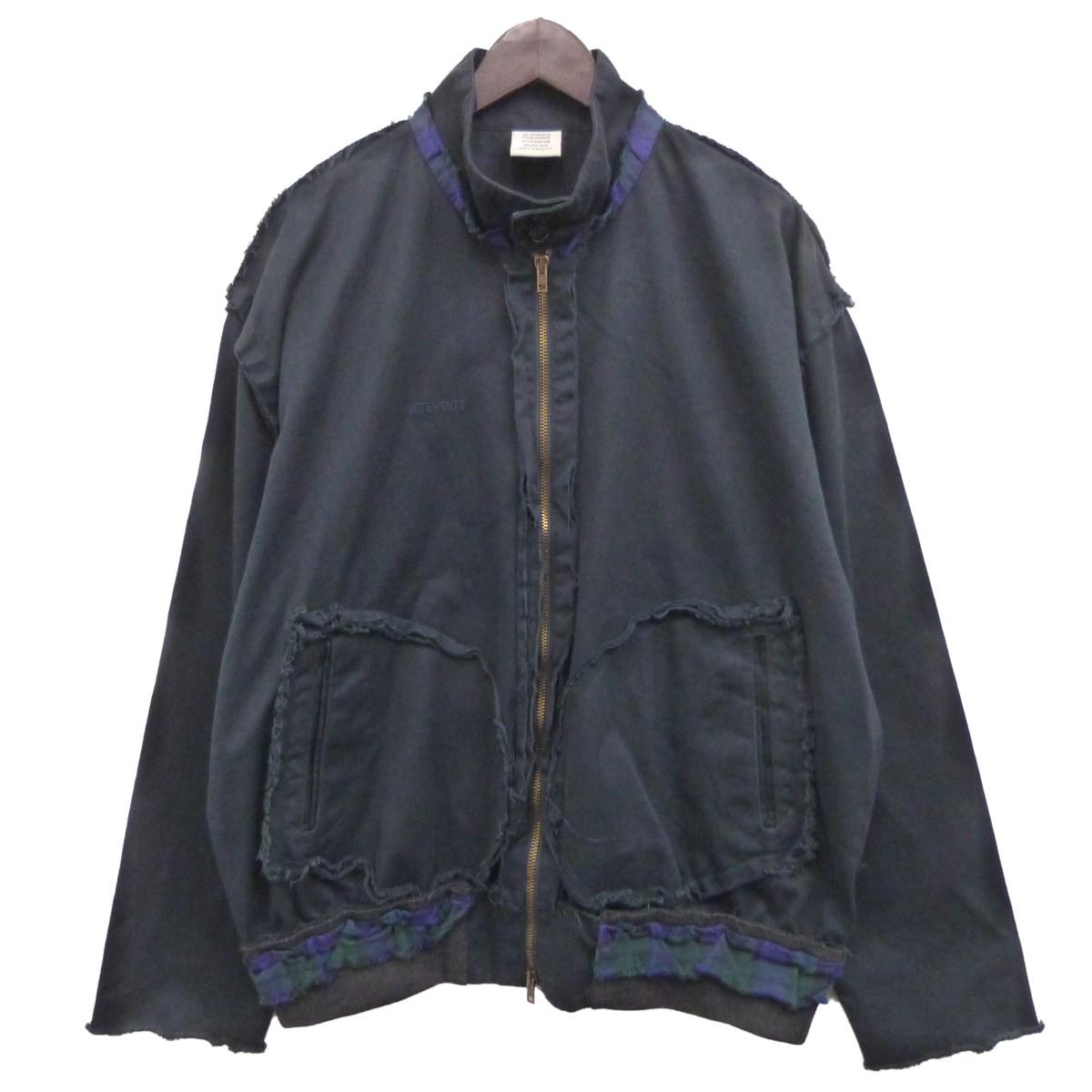【中古】VETEMENTS 18AWインサイドアウトジャケット ダークネイビー サイズ:M 【270420】(ヴェトモン)