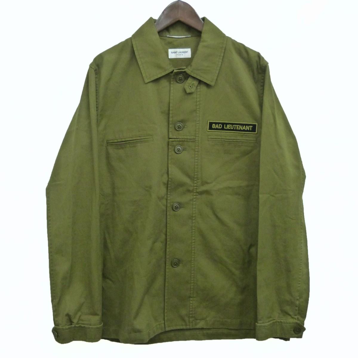 【中古】SAINT LAURENT PARIS 17AWミリタリーシャツ カーキ サイズ:48 【270420】(サンローランパリ)