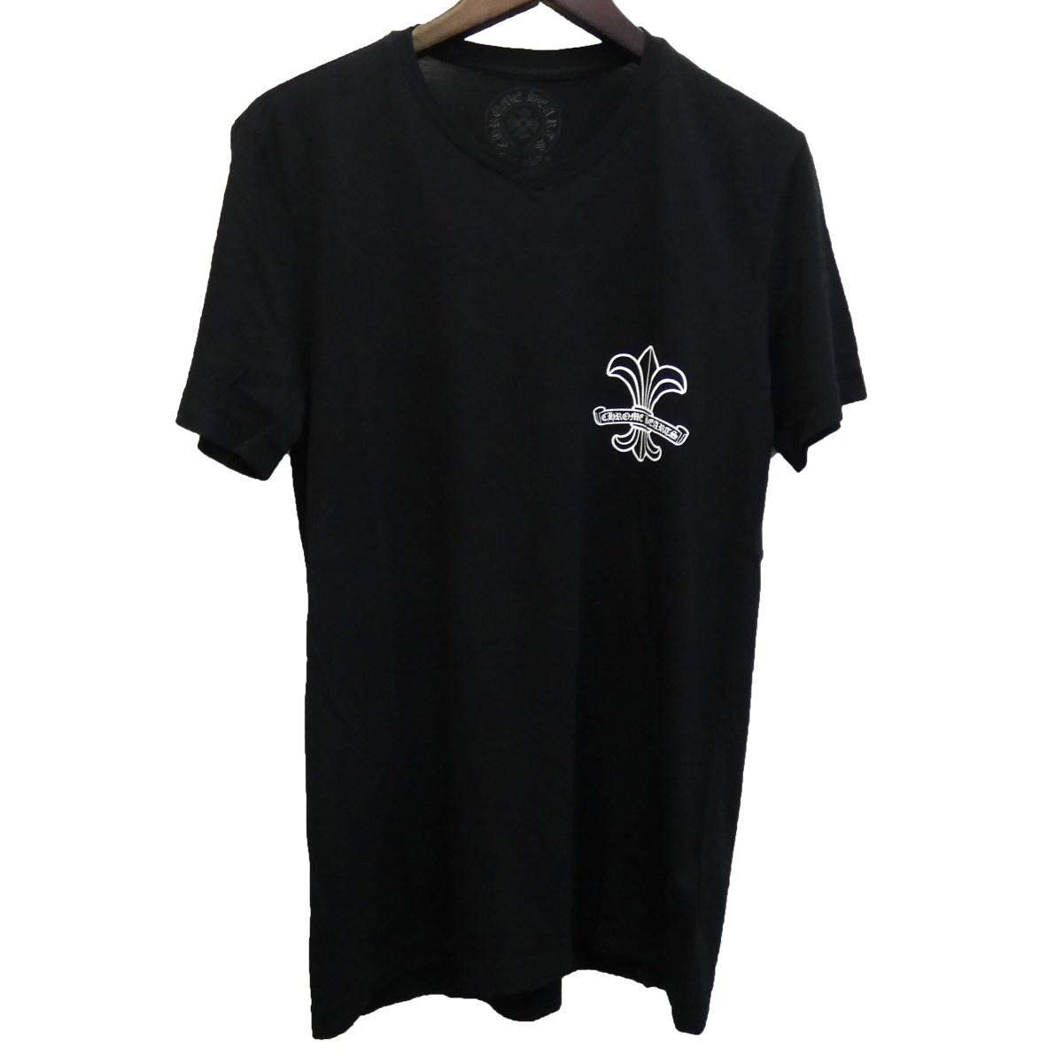【中古】CHROME HEARTS BSフレアVネックTシャツ ブラック サイズ:S 【270420】(クロムハーツ)