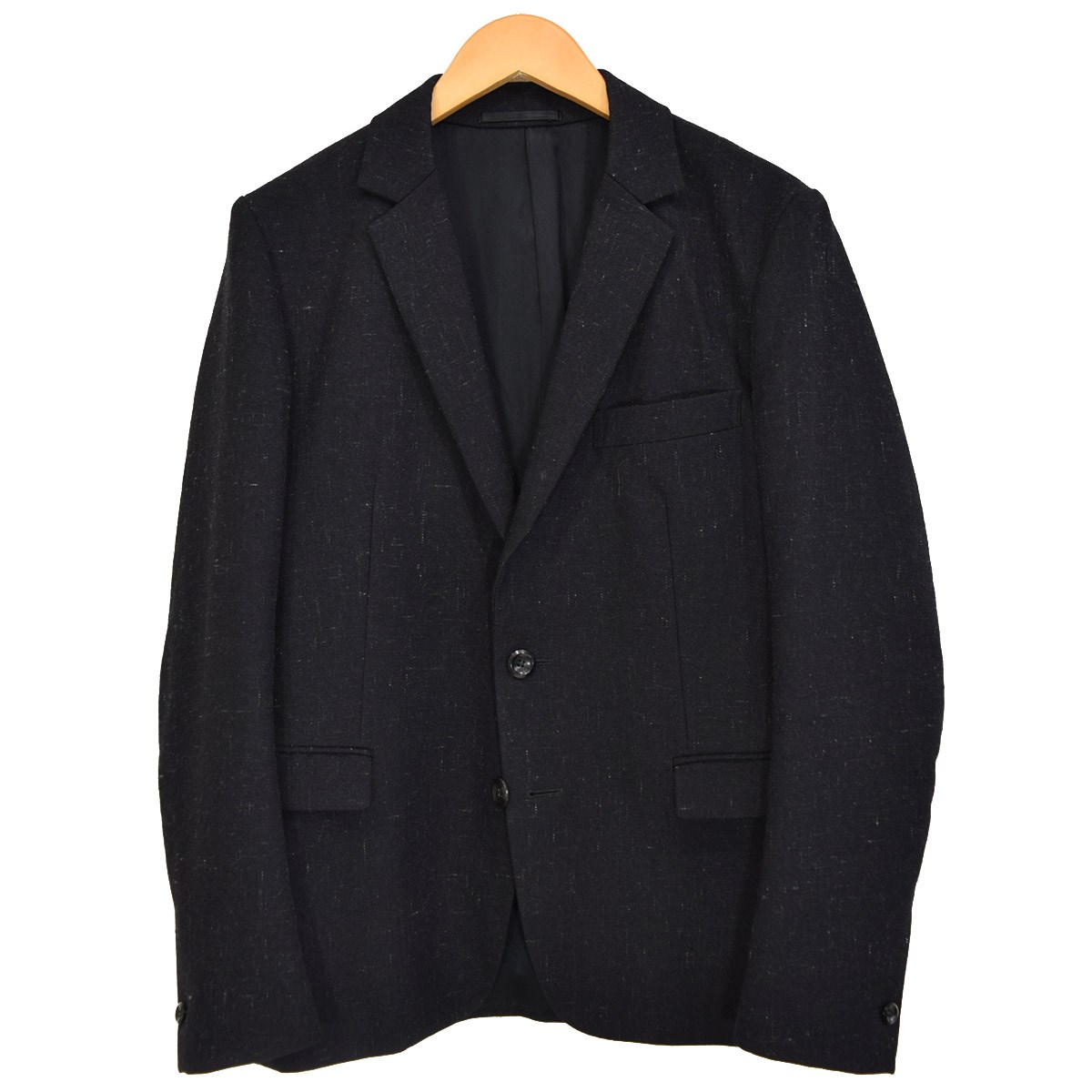 【中古】ATTACHMENT ヴィンテージネップウールサージ2Bジャケット AG52-210 ブラック サイズ:1 【270420】(アタッチメント)