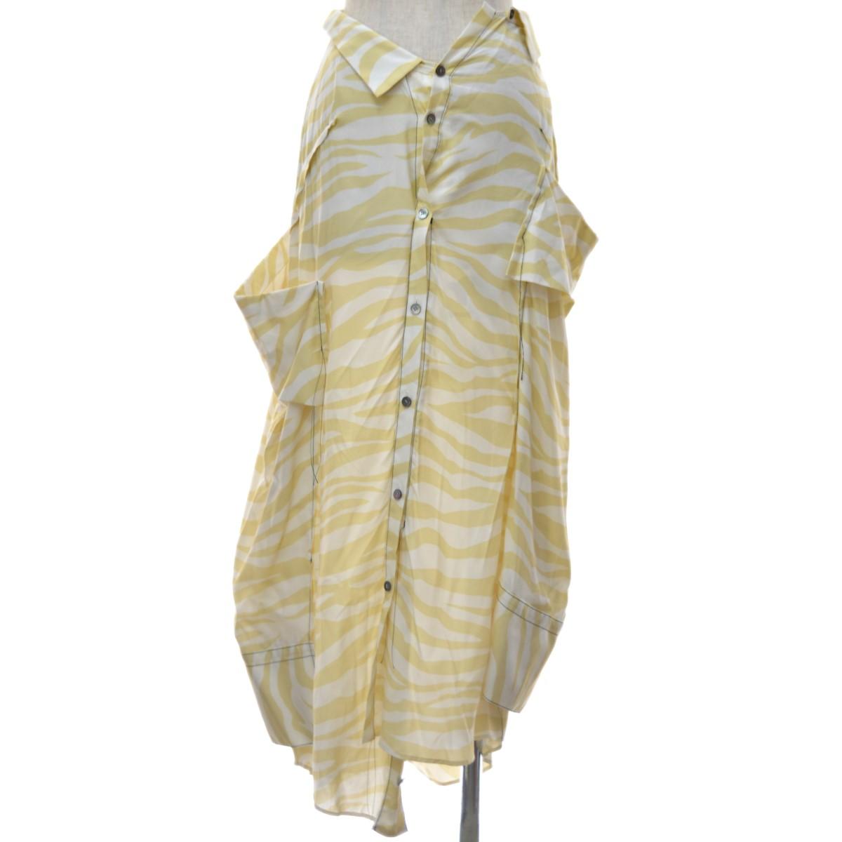 【中古】IRENE 19SS The shirts pressed Skirt シャツ風スカート ベージュ サイズ:36 【280420】(アイレネ)
