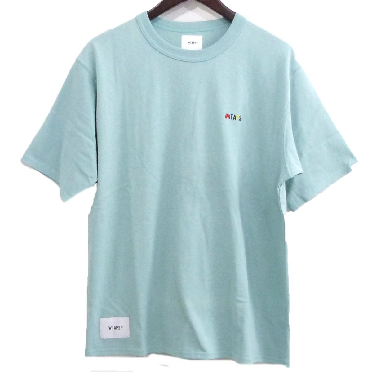【中古】WTAPS×MIN-NANO 19SS「FLAVA DESIGN SS 02」ロゴ刺繍Tシャツ ミント サイズ:X01 【280420】(ダブルタップス ミンナノ)