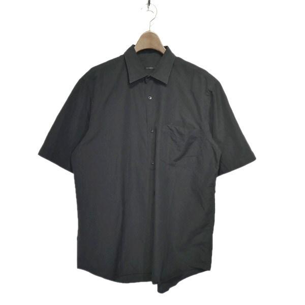 【中古】COMOLI 2019SS ショートスリーブシャツ ブラック サイズ:2 【280420】(コモリ)