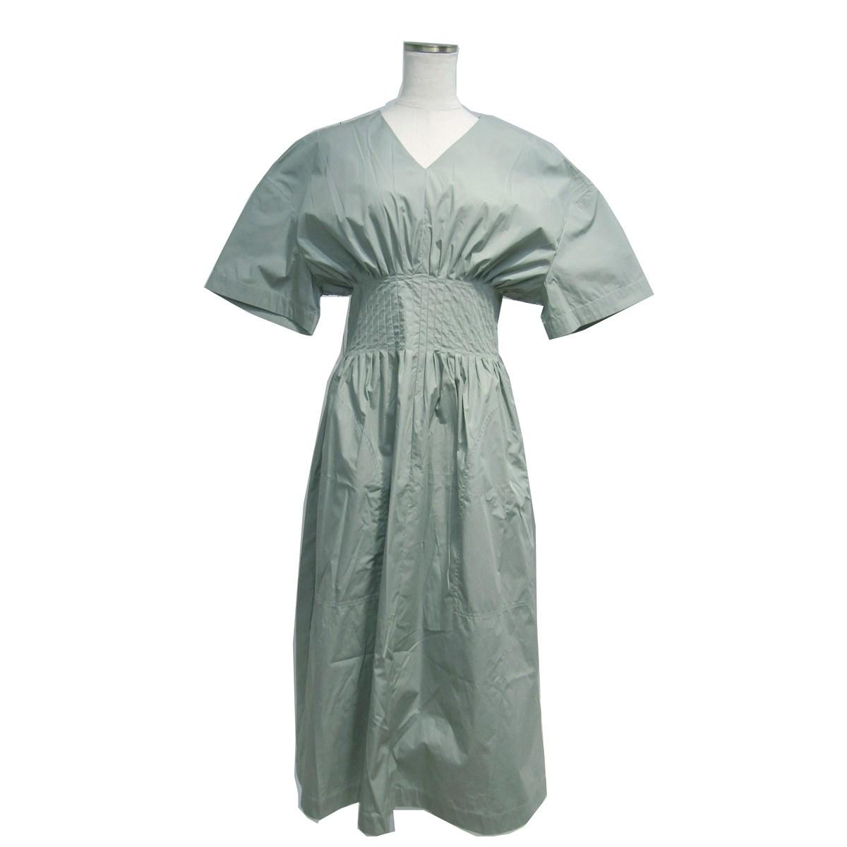 【中古】LE CIEL BLEU 2019SS Classic Summer Dress サマードレス ワンピース グリーン サイズ:36 【280420】(ルシェルブルー)