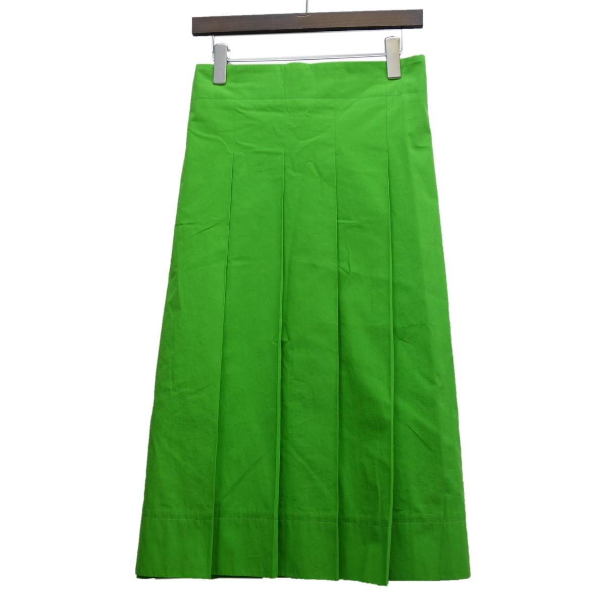 【中古】DRAWER ラップデザインプリーツスカート ライトグリーン サイズ:36 【280420】(ドゥロワー)