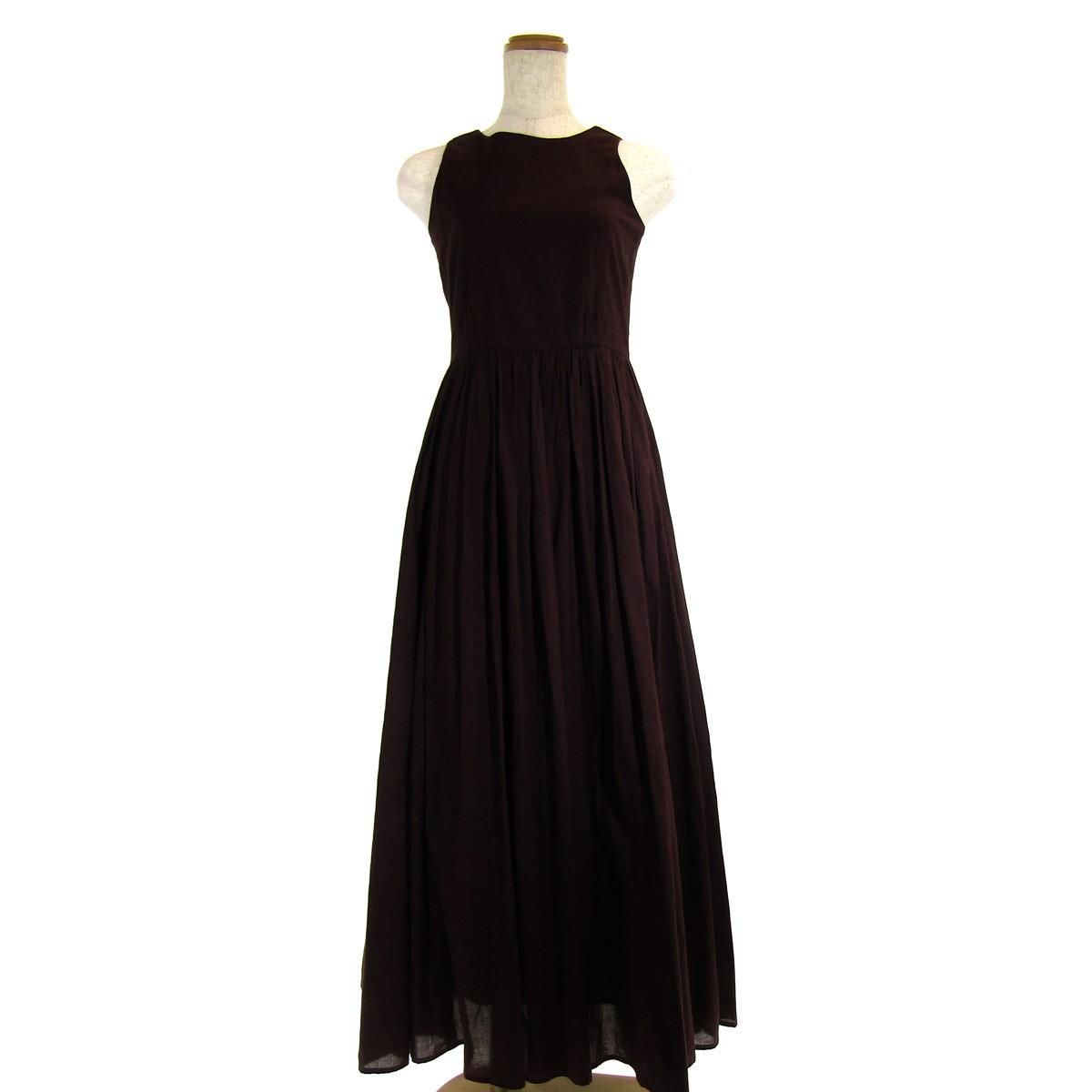 【中古】MRIHA 夏のレディのドレス ボルドー 【280420】(マリハ)