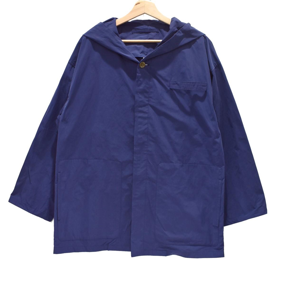 【中古】Edwina Horl フードジャケット ブルゾン ブルー サイズ:S 【280420】(エドウィナホール)