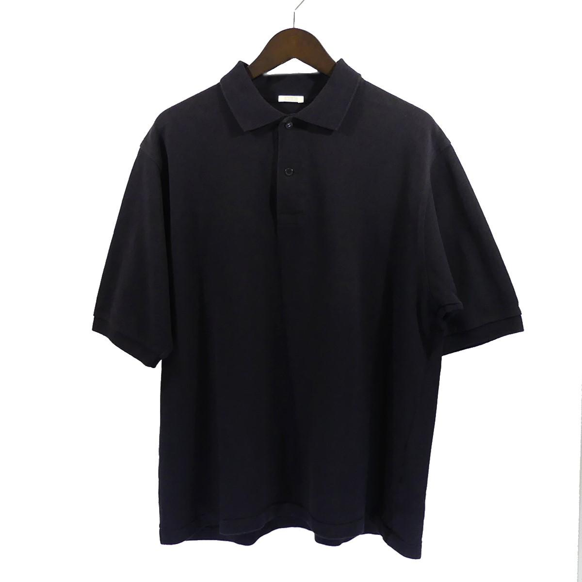 【中古】COMOLI 18SS 鹿の子半袖ポロシャツ ネイビー サイズ:1 【290420】(コモリ)