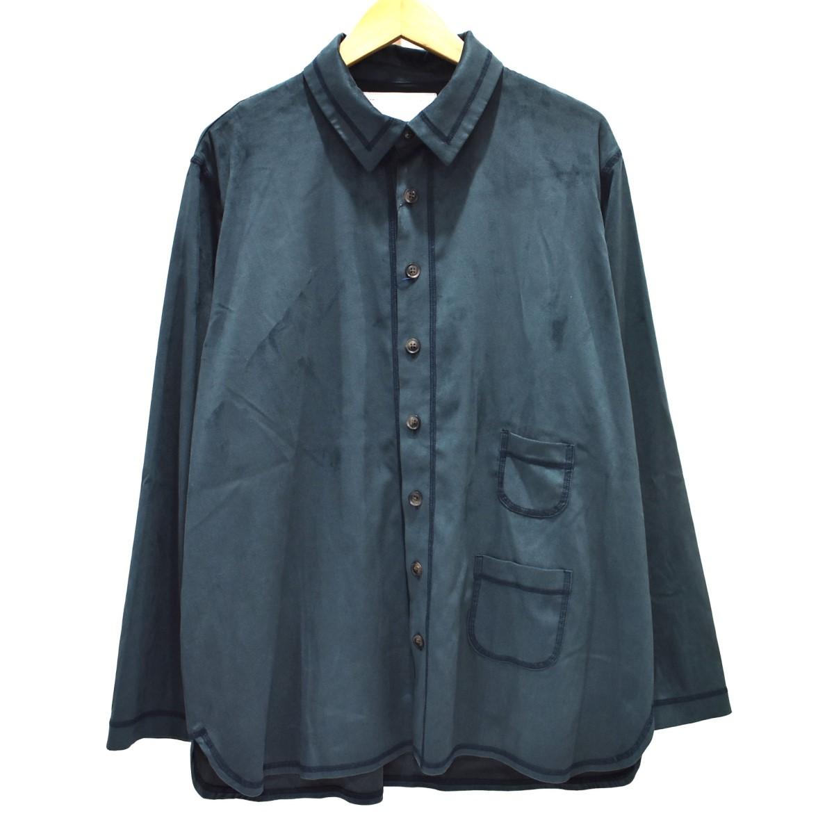 【中古】MADE BY WISLOM CIAOPANIC別注 スウェードライクシャツ 長袖シャツ グリーン サイズ:L 【290420】(メイドバイウィズロム)