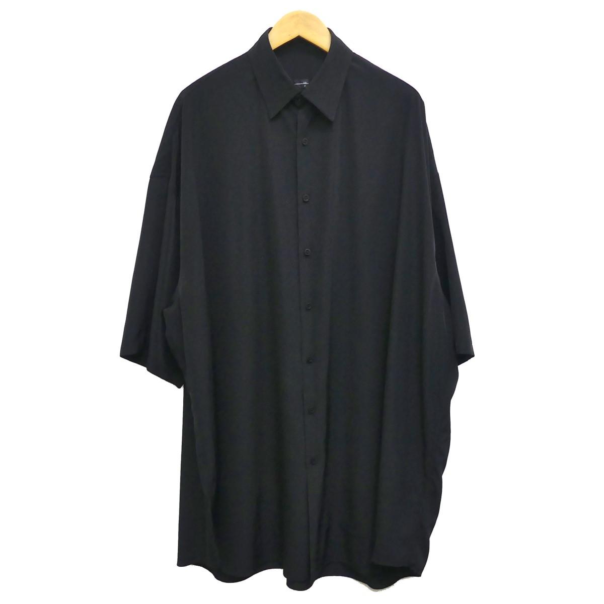 【中古】LAD MUSICIAN 19SS SUPER BIG SHORT SLEEVE SHIRT ブラック サイズ:42 【290420】(ラッドミュージシャン)
