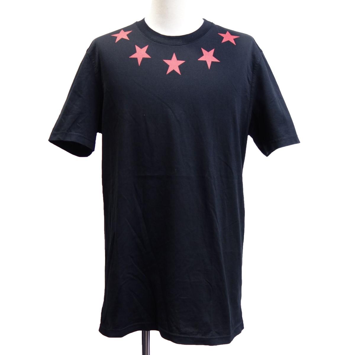 【中古】GIVENCHY 11SS スタープリントTシャツ ブラック サイズ:S 【290420】(ジバンシィ)